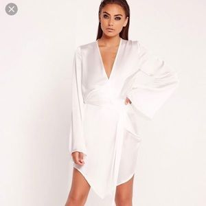 Missguided White kimono sleeve dress